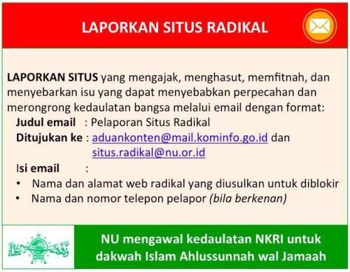 laporkan situs radikal teroris